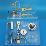 GT05 Steam Engine (Acryl-Plate) - Unassembled Set of Parts